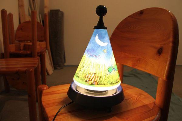 Kinderzimmerlampe mit Spieluhr von Janosch