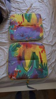 2 Sitzkissen für Gartenmöbel Kettler