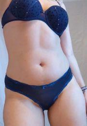 seidige blaue Hipster Panties