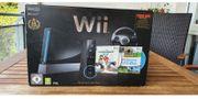 Nintendo Wii in schwarz mit