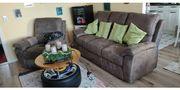 Sofa Couchgarnitur braun