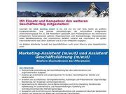 Marketing-Assistent und Assistent Geschäftsführung m