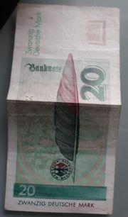 20 DM Geldschein Für Sammler