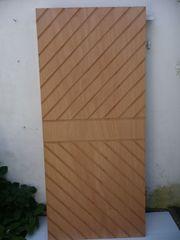 Profil-Sperrholz-Platten diagonal genutet 80mm Nutabstand