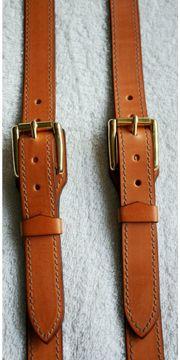 Hosenträger Leder Hand Made Vintage