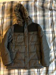 Winterjacke grau-schwarz für Jungen Gr