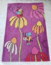 Kinderteppich ca 118x179 cm lila