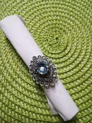 Silberring Silberschmuck mit Blautopas 925