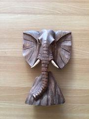 Holzstandfigur Elefant