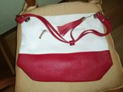 Weiß Rote Tasche 20 -