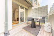schöne 3-Zimmer-Gartenwohnung hat eine Gesamtfläche