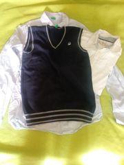Benetton Hemd und Pullunder mit