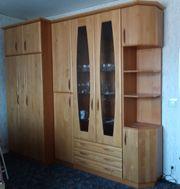 Schrankwand - Erle Prima für 1-Zimmer