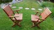 2 x Holzgartenstuhl Klappstuhl aus