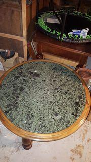OMAS TISCH holztisch mit steinplatte
