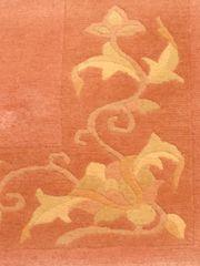 Nepal-Teppich - rosenholzfarben mit dezentem Muster