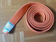 Karategürtel orange Länge 250cm