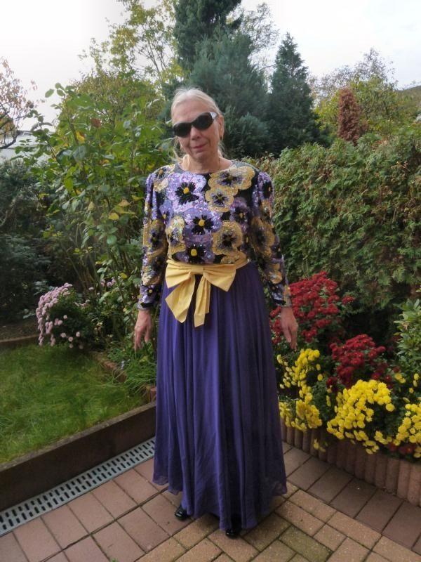 VINTAGE Bodenlanges edles LUXUS Abend-Kleid