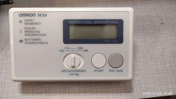 Blutdruckmessgerät Omron mx 4 ohne