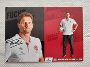 Autogrammkarte Michael Fuchs Torwart-Trainer 1