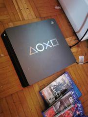 Playstation 4slimm mit 2kontrollern und