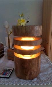 LED-Naturholz-Tischleuchte R