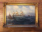 Gemälde Segelschiffe und Boote auf