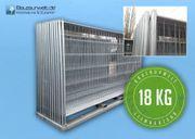15x Bauzaun 18kg verzinkt Betonstein