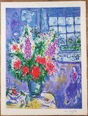Marc Chagall - Autoportrait avec Bouquet