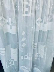 weißer Vorhang - genäht fertig zum