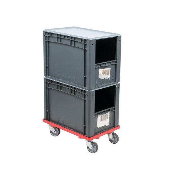 2x Eurobox Transportroller Lagerkiste Stapelboxen