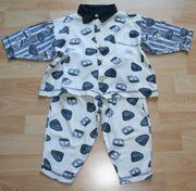 Weiß-blauer Schlafanzug - Größe 80 - Pyjama -