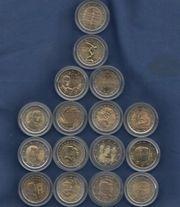 2 Euro Gedenkmünzen - Diverse Länder