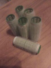 Lockenwickler - Haftlockenwickler - Haftwickler - 6 Stück - grün