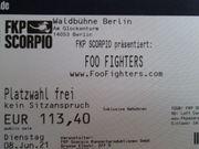 Foo Fighter Ticket für Berlin