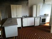 Einbauküche mit Geräten weiss