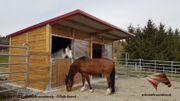 AUSSENBOXEN für Pferde Pferdestall Pferdeboxen