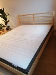 Neues Holzbett - Gestell Lattenrost Matratze