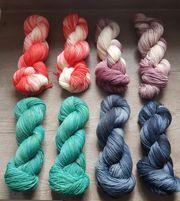 Wolle Sockenwolle 100gr handgefärbt