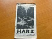 Wanderkarte Harz 1953