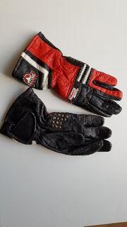 HELD Motorrad Leder Handschuhe wenig