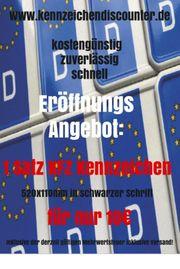 2 KFZ Kennzeichen Wunschkennzeichen DHL-Versand