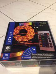 RGB LED-Lichtband 5m Lichterschlauch mit