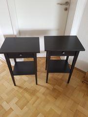 2x Nachtschrank Tisch schwarz