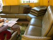 Hochwertige Leder-Couchgarnitur himolla