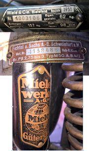 Oldtimer Miele Motorfahrrad mit orig