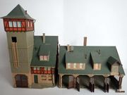 Vollmer H0 - Große Feuerwehrstation mit