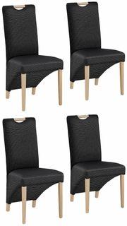 NEU Set 4x Polster-Stühle Esszimmerstühle