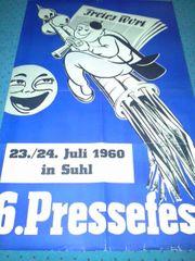 Suhl Pressefest Plakat 1960 frühe