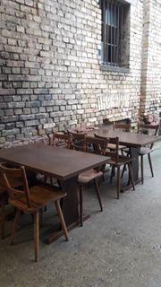 Gartenmöbel Bierbänke Tische mit Stühlen